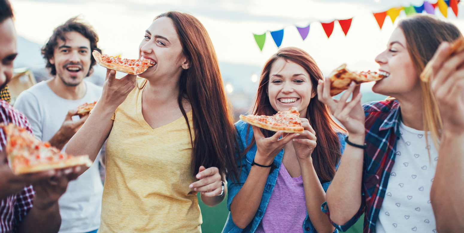 Image: People Eating Pizza